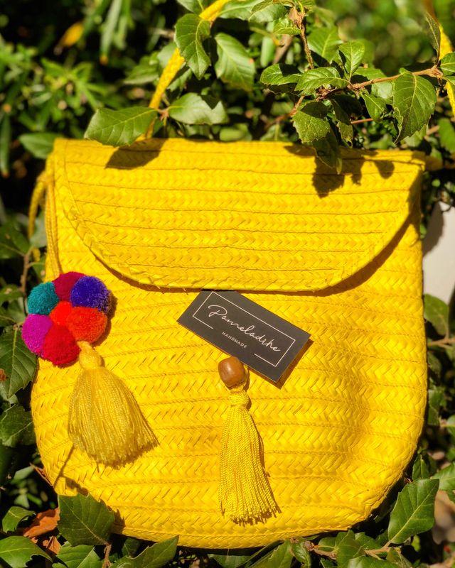 Bolsa redonda artesanal Mexicana.