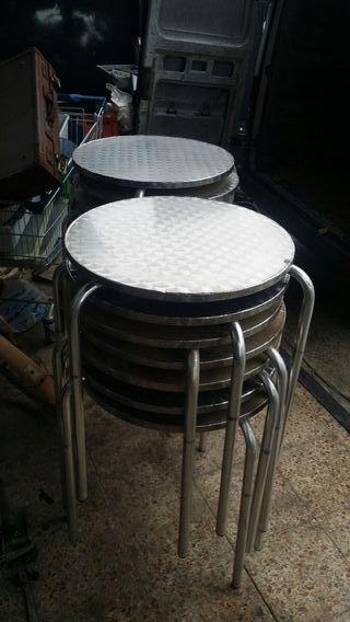 UlTIMAS UNIDADES mesas aluminio redondas
