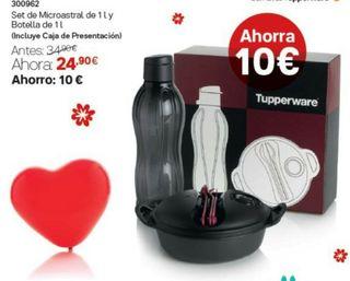 set microastral con botella tupperware
