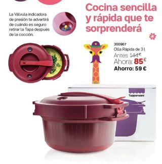 olla express para microondas tupperware