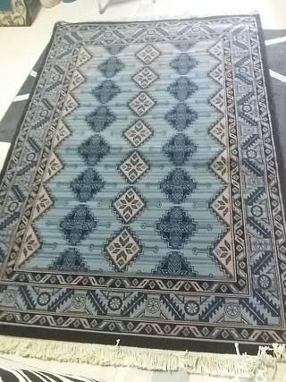 alfombra lana tonos azules