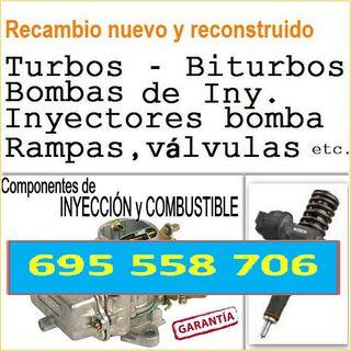 turbos bombas inyectores, válvulas, biturbo, bomba