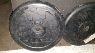 pesas disco 10 kilos