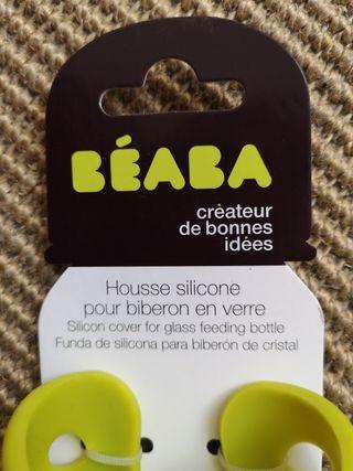 lote de 2 funda de silicona para biberon beaba