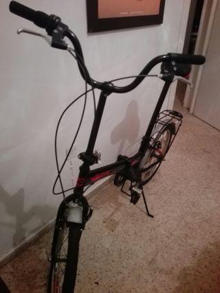 bicicleta plegable folding negra