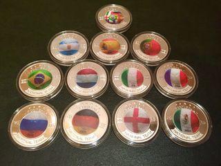 Colección Monedas fútbol Rusia 2018