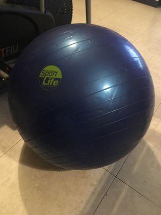 Pesas y balón con bomba para inflat