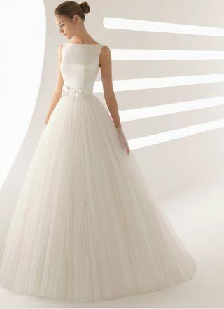 vestido de novia rosa clara de segunda mano en valencia en wallapop