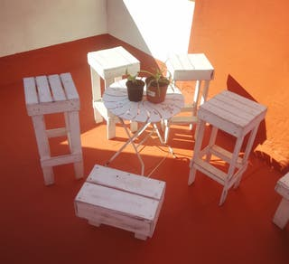 lote muebles terraza palets