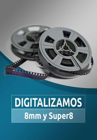 Digitalizar Escanear 8mm y Super8,paso bobinas