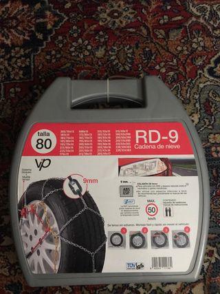 "Neumático de coche 9mm cadenas para la nieve de 15/"" ruedas de TXR9 195//55-15"