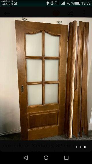Puertas de madera con cristal de segunda mano en wallapop for Puertas de paso segunda mano