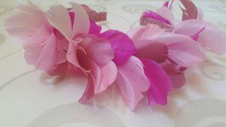 Tocado en rosa