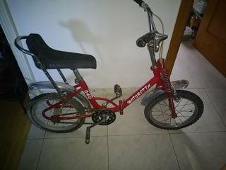 bicicleta motoretta plegable roja vintage