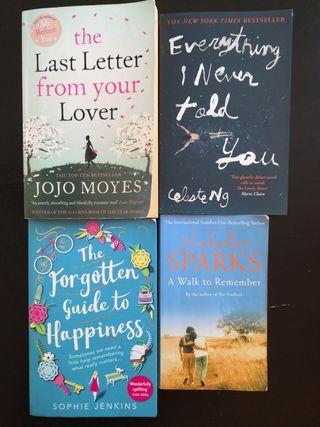 4 english books