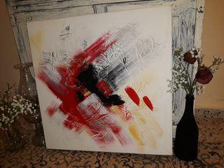 Cuadro abstracto, ÓLEO pintado a mano