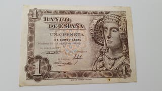Billete de una peseta 1948