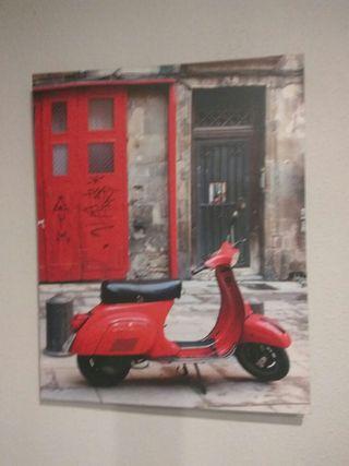 cuadro Moto Vespa