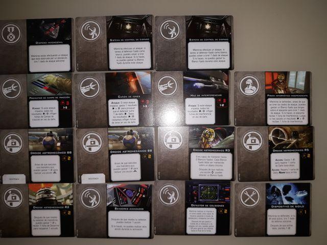 Lote de cartas xwing 2.0