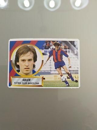 Cromo Soler Barcelona Liga Este 88 89