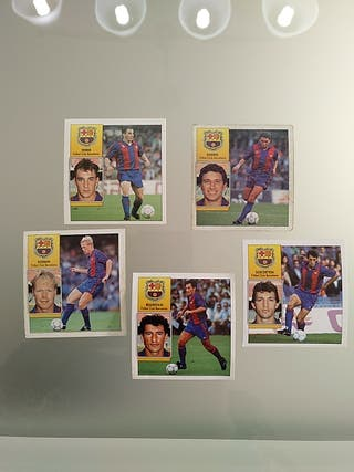 Lote 5 cromos Barcelona Este Liga 92 93