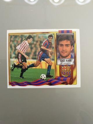 Cromo Jose Mari Barcelona Liga Este 95 96