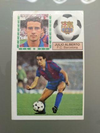Cromo Julio Alberto Barcelona Liga Este 83 84