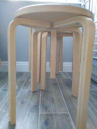 4 stools.