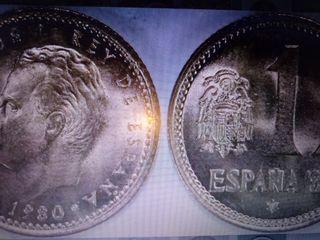 moneda 1 peseta 1980 mundial España 82