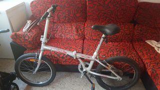 bicicleta de aluminio plegable