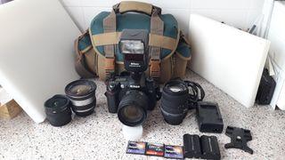 Cámara Nikon D70 + Equipo profesional.