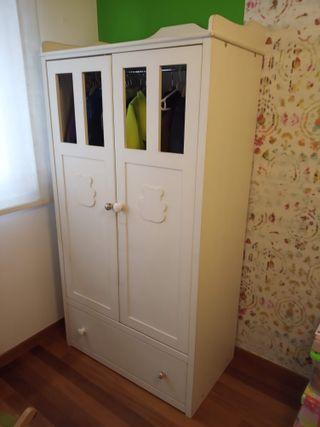 armario comoda banco y estante dormitorio niño/a