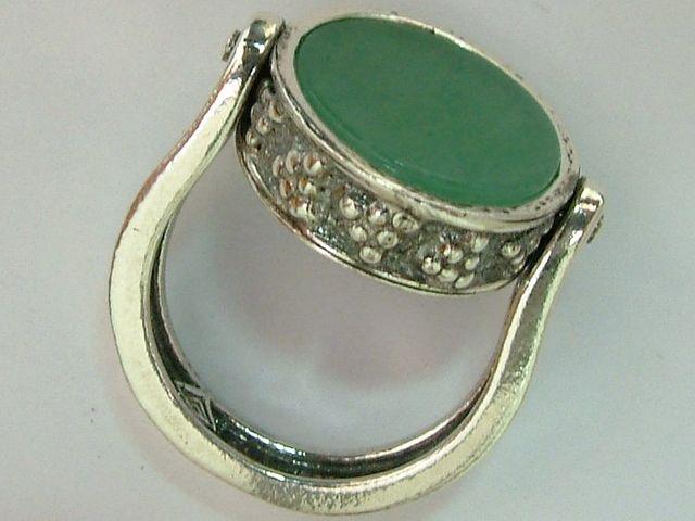 bbaaf94f Joyas y Bisuteria-Anillo de plata con 2 piedras de segunda mano por ...