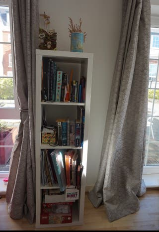 Ikea white shelving unit (two available)