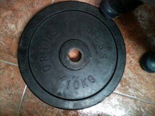 discos peso fitness y halterofilia caucho 10 kilos