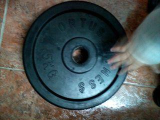 Disco peso fitness y halterofilia caucho 5 kilos