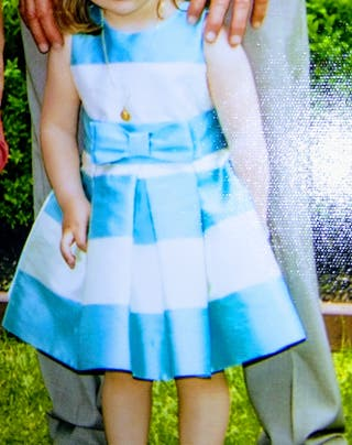 Vestido Ceremonia niña. Talla 2 - 3 años