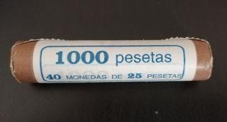 Cartucho monedas 25 pesetas