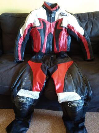 mono dos piezas de piel moto negociable