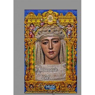 Azulejo rectangular de la Virgen de la Esperanza T