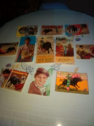 postales de toreros años 60-70