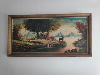 Cuadro coleccionista pintado a mano 1,40 x79