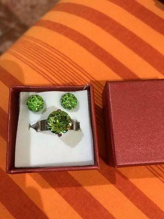 Anillo y pendientes cristal Swarovski