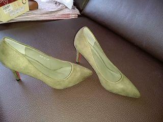 Segunda De Tacón SecoN°37Sin En Mano Zapato Estrenar Verde nkw8P0O