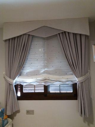 Estores y cortinas.