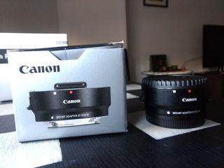 Adaptador para objetivos de cámara Canon EF-EOS M