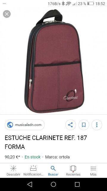 mochila clarinete