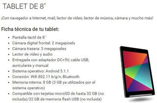 "Tablet 8"" Android, actualizada, rooteada, dolby"