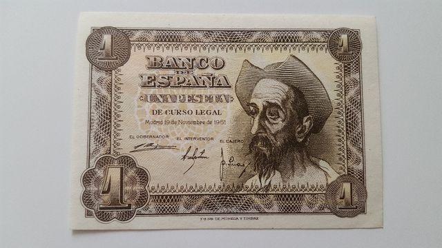 Billete de una peseta de 1951