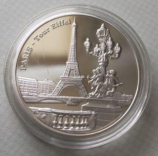 Moneda Conmemorativa Paris Torre Eiffel